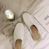 2020夏INS新款網紅粗跟包頭半拖鞋懶人低跟方頭穆勒鞋拖鞋女外穿 童趣屋
