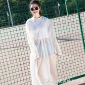 戶外韓國時尚雨衣男女成人學生長款網紅雨衣非一次性加厚透明雨衣艾美時尚衣櫥