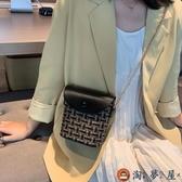 水桶包小包包女韓版簡約百搭側背斜背時尚【淘夢屋】