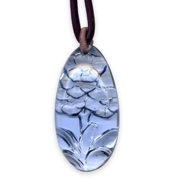 鹿港窯~開運古法水晶琉璃項鍊~花開富貴 附精美包裝◆免運費送到家◆