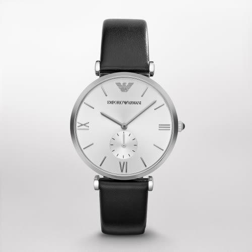 EMPORIO ARMANI Classic小秒針簡約風時尚腕錶(AR1674)/40mm