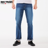 BigTrain舒適薄彈天絲棉直筒褲-男-藍-M~3L