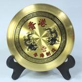 純銅羅盤指南針 看風水盤隨身攜帶高精度八卦盤綜合羅經盤4寸5寸WZ2611 【極致男人】