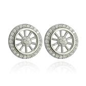 耳環925 純銀鑲鑽閃耀動人生日聖誕節  女飾品73dm12  巴黎