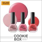 韓國CLIO 春夏仙粉香氛指甲油13ml 指甲美甲彩繪指彩手部 孔孝真餅乾盒子