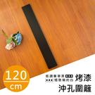 收納架/置物架/圍籬【配件類】120公分鐵架/層架兩用-(低調奢華黑)烤漆沖孔板圍籬  dayneeds