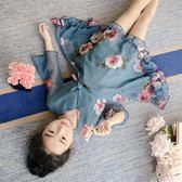 雙十二狂歡連身裙 洋氣夏裝韓版雪紡公主裙子中大童兒童【洛麗的雜貨鋪】