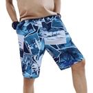 五分褲 2021短褲夏季運動五分中褲男ins印花褲衩5分寬松速干騷氣沙灘褲潮