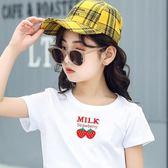 童裝女童短袖T恤中大童夏裝2019新款純棉上衣寶寶夏款洋裝打底衫