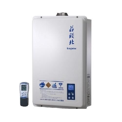 (全省標準安裝)莊頭北16公升數位式恆溫分段火排DC強制排氣熱水器TH-8165FE
