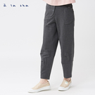 a la sha 異材質口袋剪接造型九分寬褲
