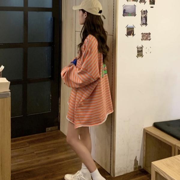 彩色蜜糖girl早春韓國IG熱門款風2020新款甜美減齡休閑寬松百搭長袖t恤『居享優品』