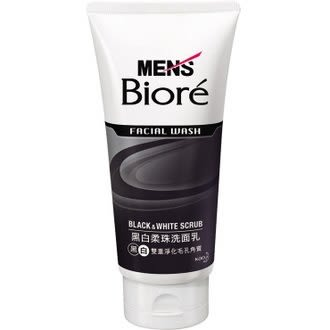MENS Biore 男性專用黑白柔珠洗面乳 100g