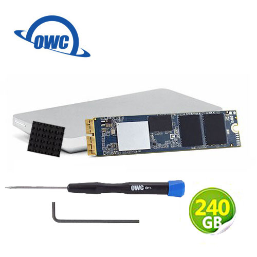 OWC Aura Pro X2 240GB NVMe 適用於Mac Pro SSD 完整升級套件 含工具、散熱片及Envoy Pro外接盒 (OWCS3DAPT4MP02K)