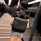 韓劇同款匹諾曹朴信惠崔仁荷 通勤用黑色後背包 單肩/手提