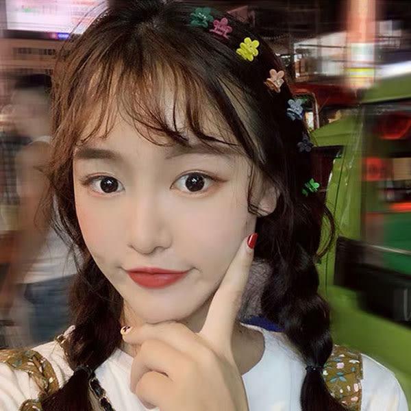 炫雅 小花夾 髮夾 少髮量 迷你 花朵 抓夾 邊夾 彩色 多色 小花 糖果色 螢光色 亮色系 韓國 NXS