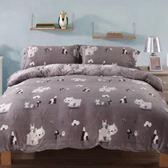 100%法蘭絨雙人特大6×7尺四件式兩用被毯床包組☆冬季首選☆《熊熊出遊》