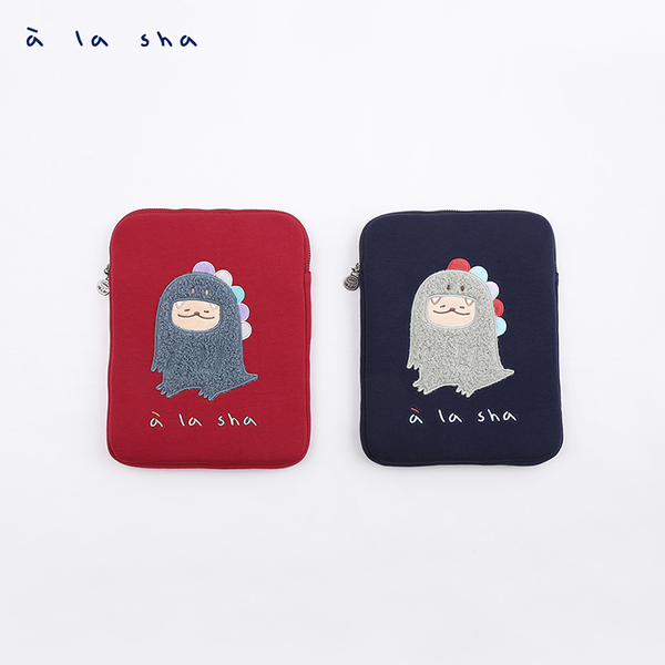 a la sha 抹茶扮烏龍毛毛iPad包