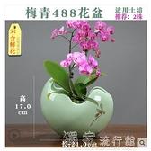 花盆蝴蝶蘭專用陶瓷花盆手彩盆栽植物簡約個性創意大號托盤君子蘭蘭花YJT 快速出貨