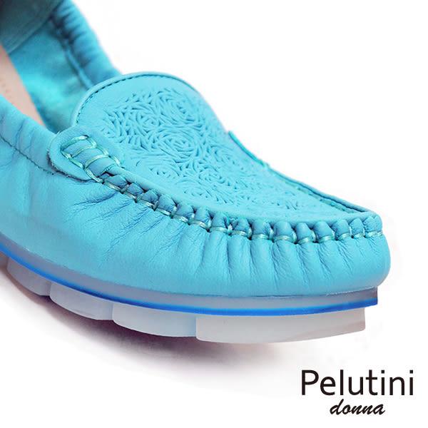 【Pelutini】donna果凍膠底休閒女鞋 淺藍(8332W-LBU)