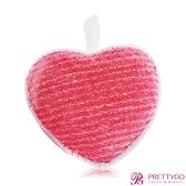 FANCL 芳珂 深層潔淨潔顏海綿(愛心型)-紅(8x8.3x2.7cm)【美麗購】