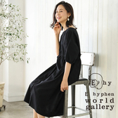 ❖ Autumn ❖ 2WAY兩穿式純棉蓬袖開襟連身洋裝 - E hyphen world gallery