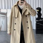 外套男秋冬2020新款風衣男中長款韓版潮流帥氣英倫風上衣服男披風 黛尼時尚精品