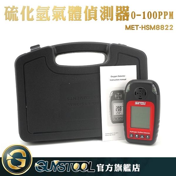 硫化氫氣體偵測器 MET-HSM8822 GUYSTOOL  氣體檢測器 背光螢幕 農業 化工業 生化醫學