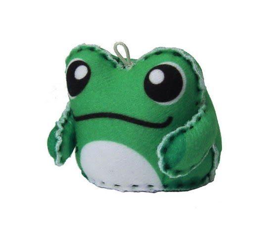 ☆猴子設計☆ 青蛙布偶明信片-明信片可以DIY成一個可愛布偶-可加購材料包