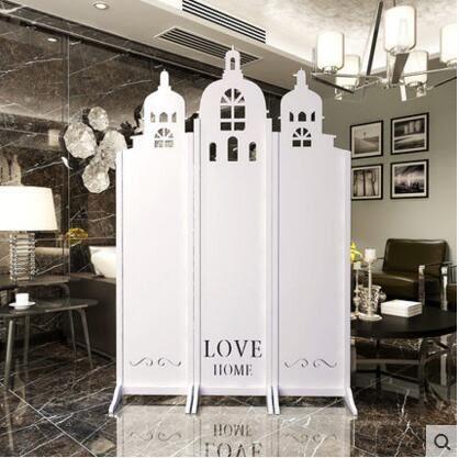 屏風隔斷時尚歐式屏風客廳城堡折屏雕花玄關臥室簡約現代鏤空折疊 3扇最高180