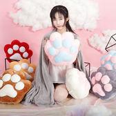 貓爪抱枕被子兩用女生珊瑚絨公仔粉色毛絨可愛多功能懶人靠枕學生   igo  瑪麗蘇