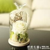 永生花擺件玻璃罩創意家居客廳工藝裝飾品擺設生日結婚禮物 ◣怦然心動◥