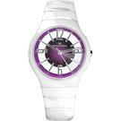 【Max Max】Max Max MAS5131-2晶鑽切割鏤空紫白陶瓷腕錶/紫面38mm(MAS5131-2)