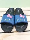 【震撼精品百貨】Hello Kitty 凱蒂貓~台灣製正版成人牛仔拖鞋-桃蝴蝶結(23~25.5號)#18173