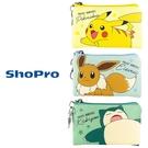 【日本正版】寶可夢 皮革 零錢包 卡片包 收納包 神奇寶貝 皮卡丘 伊布 卡比獸 129669 129676 129683