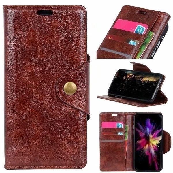 SONY Xperia 10 II Xperia1 II 銅釦牛紋 手機皮套 插卡 支架 皮套 內軟殼 掀蓋殼