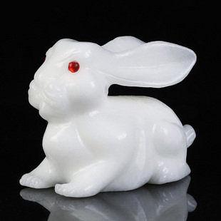 白玉招財兔子擺件家居裝飾品工藝品擺設禮品