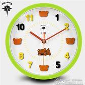 12英寸可愛卡通創意掛鐘兒童房臥室靜音石英鐘客廳鐘表掛表 居樂坊生活館YYJ