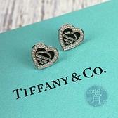 BRAND楓月 TIFFANY&CO. 蒂芬妮 18K 鑽石 愛心造型 刻字 耳環 飾品 配件 小耳環 耳針式