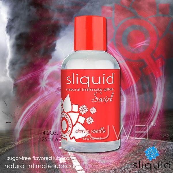 銀白色情趣用品 美國Sliquid.櫻桃香草潤滑液125ml  敏感體質也適用