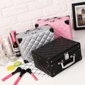 化妝包收納整理小號大容量多功能簡約便攜手提化妝箱大號 巴黎春天