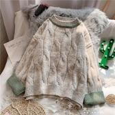 毛衣-毛衣女寬鬆外穿新款秋冬套頭粗線針織衫秋裝慵懶風上衣ins潮 東川崎町