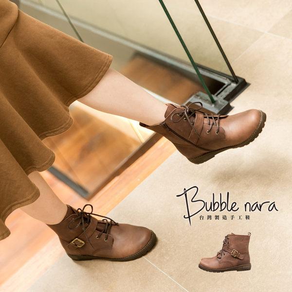 短靴 荒野沼平牛皮軍靴。波波娜拉Bubble Nara。好輕好好穿馬丁靴騎士靴,自然復古刷色 Na016-2