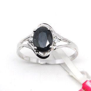 925銀 天然藍寶石 戒指