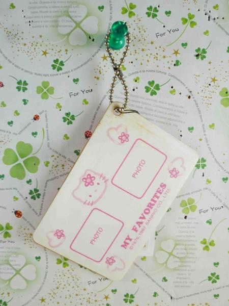 【震撼精品百貨】Hello Kitty 凱蒂貓~KITTY相片名牌鑰匙圈-粉花