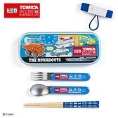 Sanrio 汽車宇宙*TOMICA日本製餐具組附束帶(方格)★funbox★_273651