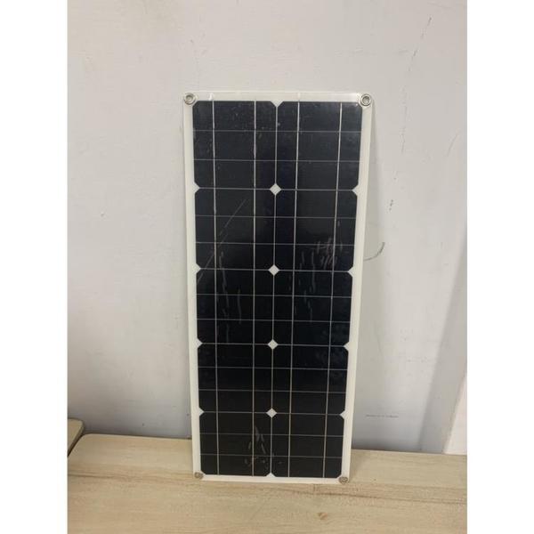 太陽能電池板家用光伏發電充電板戶外發電板機車充電12V太陽能板(66*28/@777-12225)