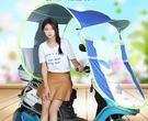 電動車遮陽傘加厚折疊防曬擋風電瓶車摩托車踏板車通用雨蓬棚YYP   瑪奇哈朵