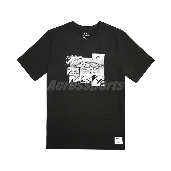 Nike 短袖T恤 NSW Tee 黑 白 男款 短T AIR MAX 富士山 【PUMP306】 BV7584-010