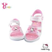 Hello kitty兒童涼鞋 女童涼鞋 休閒涼鞋 凱蒂貓 MIT台灣製 J6525#白色◆OSOME奧森鞋業